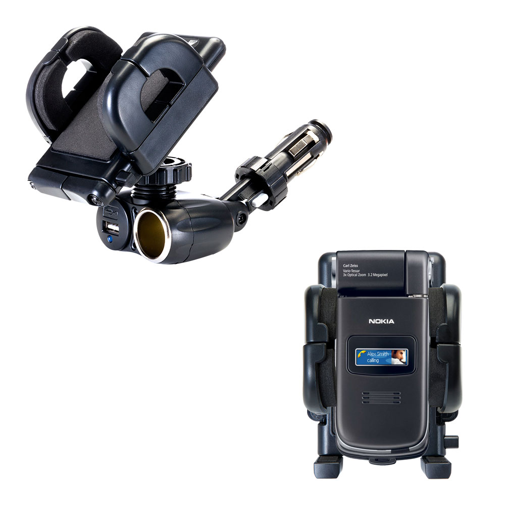 Cigarette Lighter Car Auto Holder Mount compatible with the Nokia N90 N93 N95