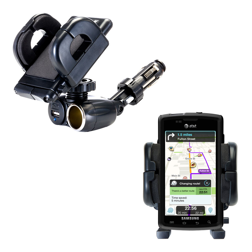 Cigarette Lighter Car Auto Holder Mount compatible with the Samsung Captivate