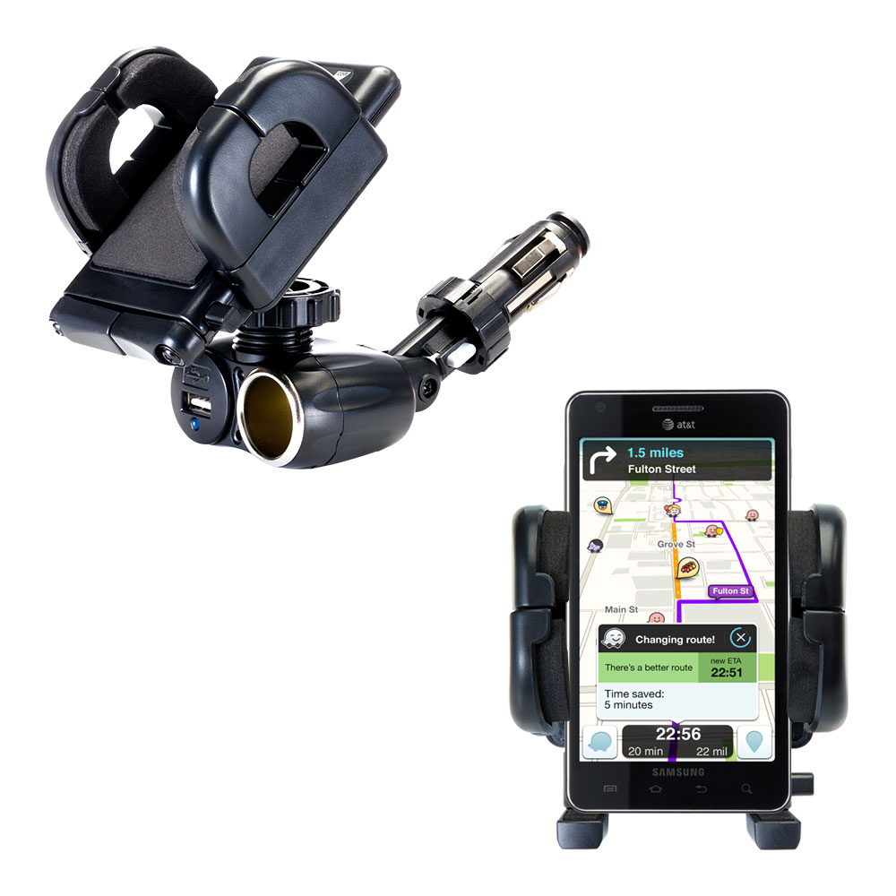 Cigarette Lighter Car Auto Holder Mount compatible with the Samsung Infuse 4G
