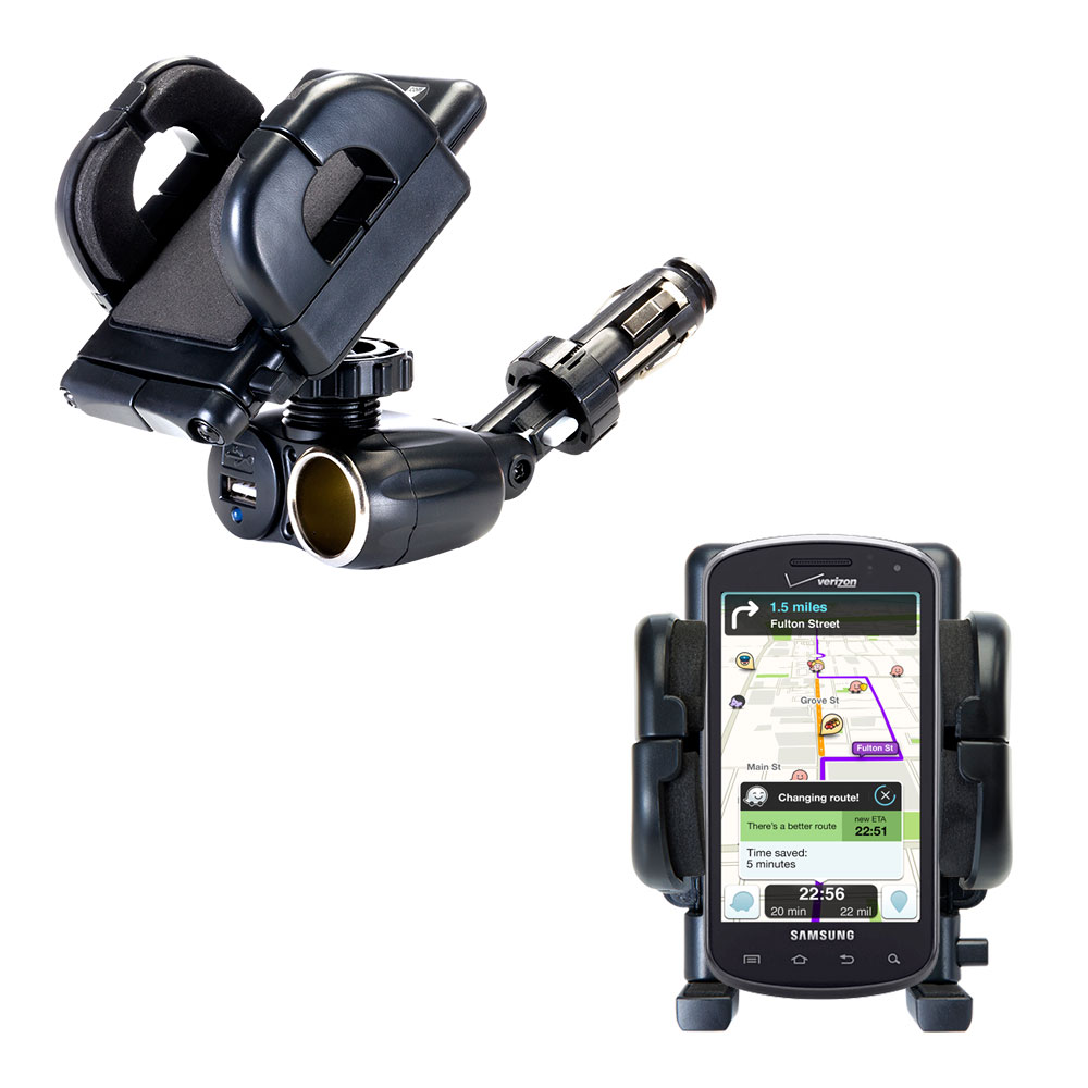 Cigarette Lighter Car Auto Holder Mount compatible with the Samsung Stratosphere