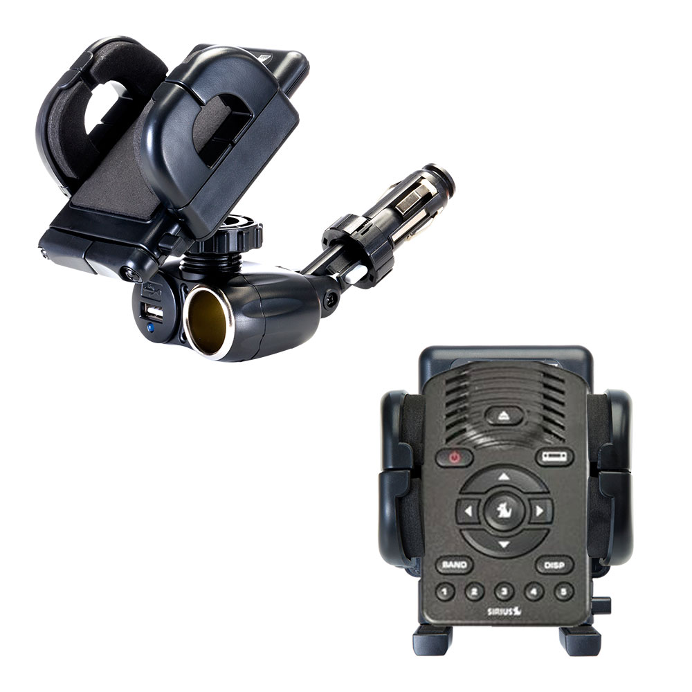 Cigarette Lighter Car Auto Holder Mount compatible with the Sirius One SV1