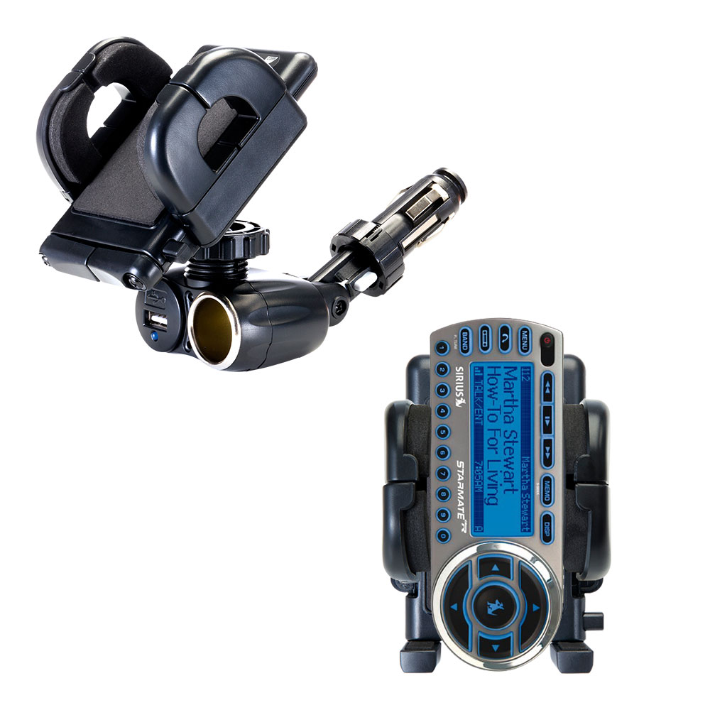 Cigarette Lighter Car Auto Holder Mount compatible with the Sirius StarMate ST2