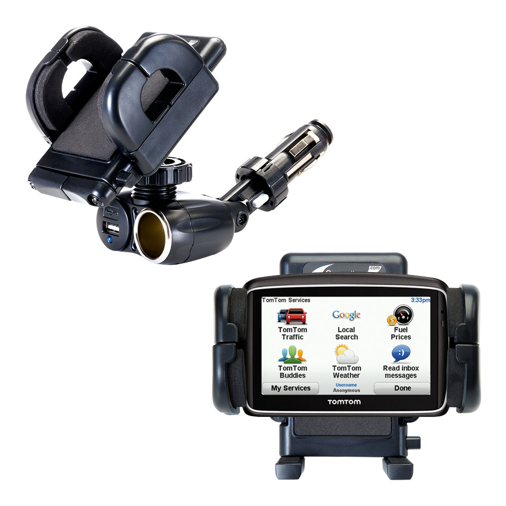 Cigarette Lighter Car Auto Holder Mount compatible with the TomTom 740
