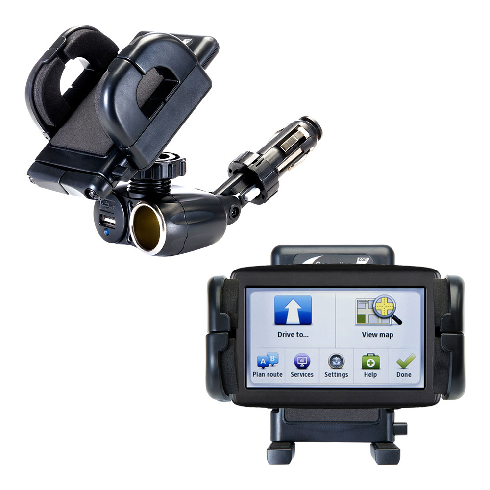 Cigarette Lighter Car Auto Holder Mount compatible with the TomTom VIA 1500