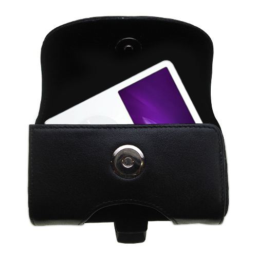Black Leather Case for Apple iPod 5G Video (60GB)