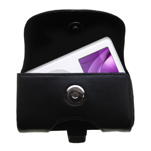 Black Leather Case for Apple iPod Photo (30GB)