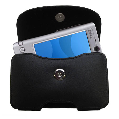 Black Leather Case for Dell Axim x3 x3i