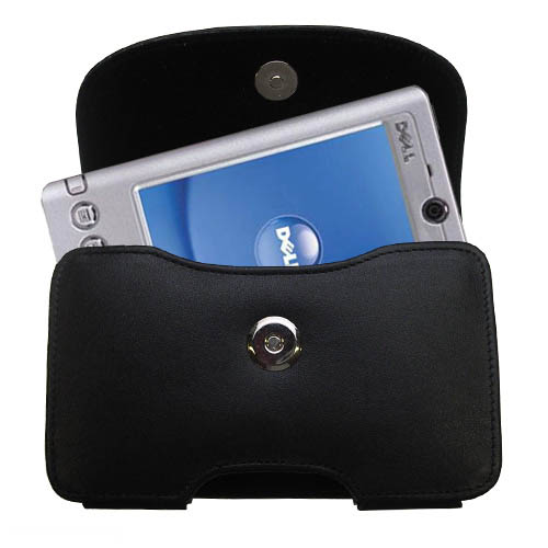 Black Leather Case for Dell Axim x3i