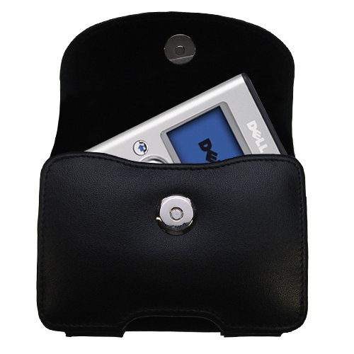 Black Leather Case for Dell Pocket DJ 20GB 30GB