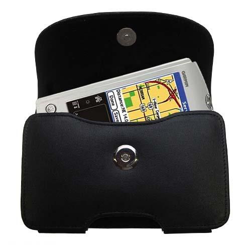 Black Leather Case for Garmin iQue 3600