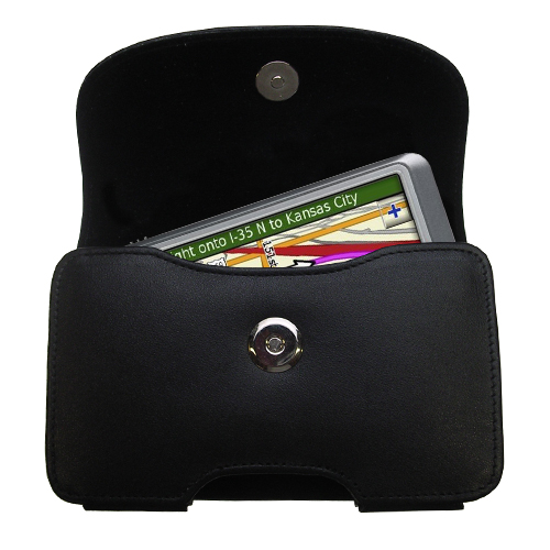 Black Leather Case for Garmin Nuvi 255W 255WT 255