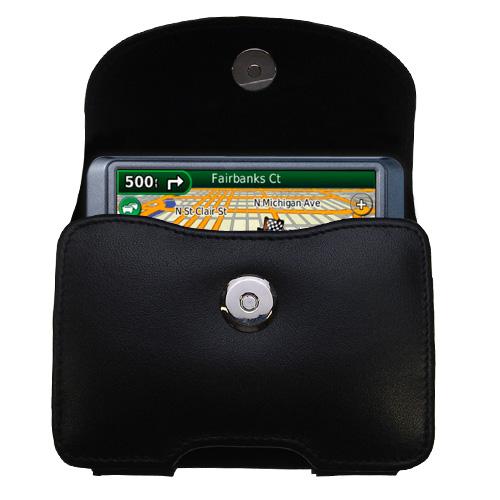 Black Leather Case for Garmin Nuvi 265WT 265T