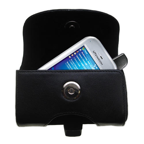 Black Leather Case for HTC 6700Q Qwest