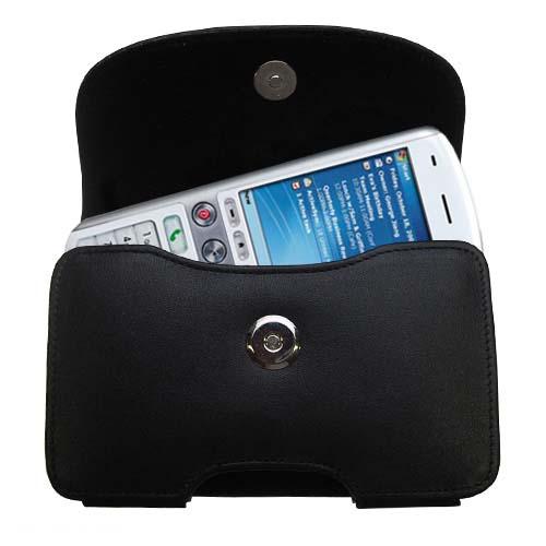 Black Leather Case for HTC Amadeus