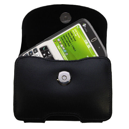 Black Leather Case for HTC Dash