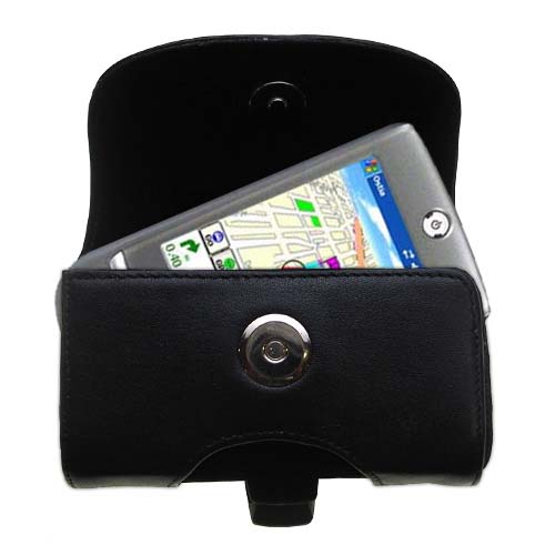Black Leather Case for HTC Galaxy