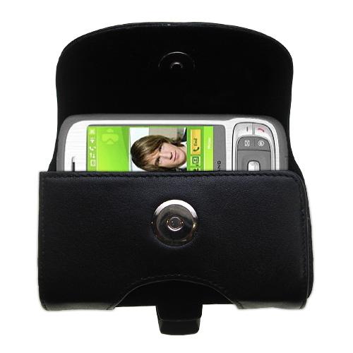 Black Leather Case for HTC Kaiser