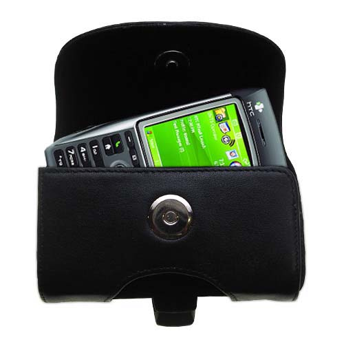 Black Leather Case for HTC MTeoR