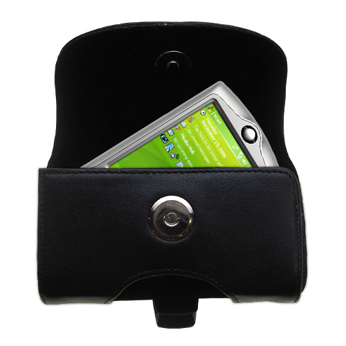 Black Leather Case for HTC P3350
