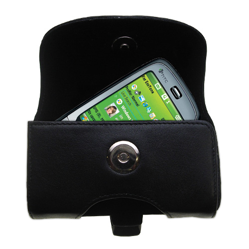 Black Leather Case for HTC S710