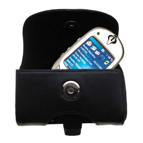 Black Leather Case for HTC Tanager Smartphone