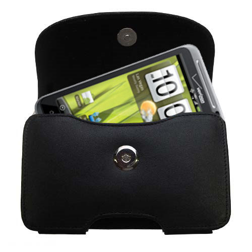 Black Leather Case for HTC Thunderbolt
