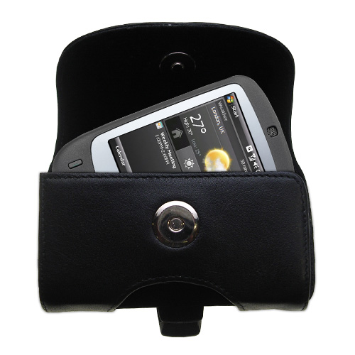 Black Leather Case for HTC Touch
