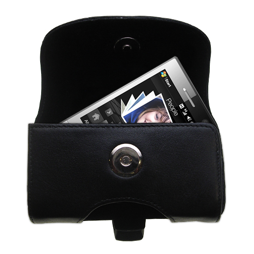 Black Leather Case for HTC Touch Diamond