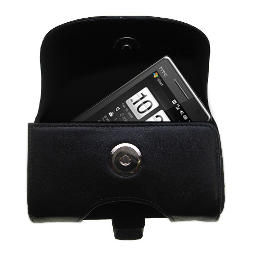 Black Leather Case for HTC Touch Diamond2