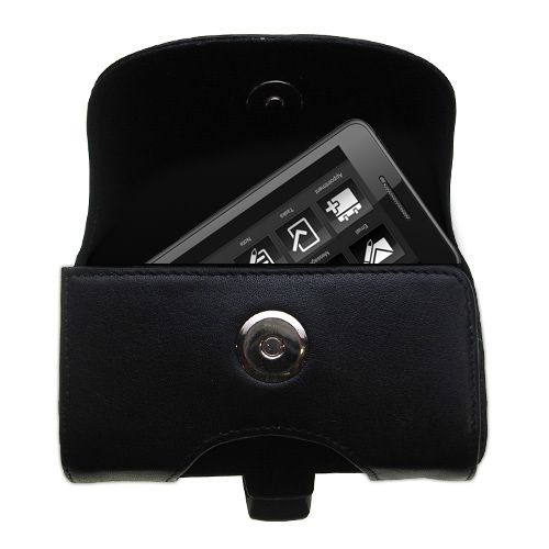 Black Leather Case for HTC Touch Pro2