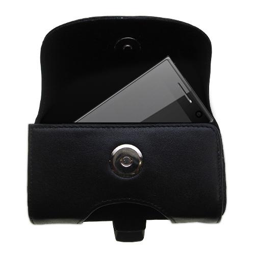 Black Leather Case for HTC Warhawk