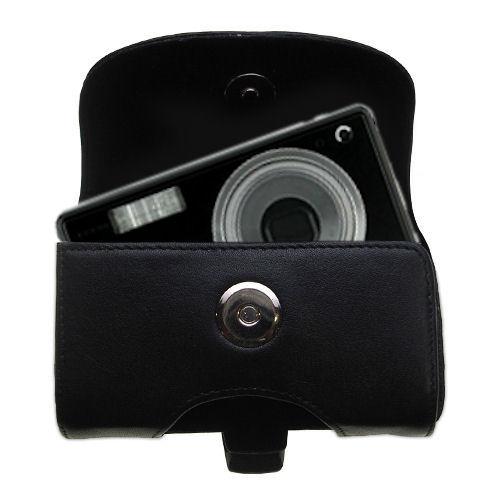 Black Leather Case for Kodak V603 V610
