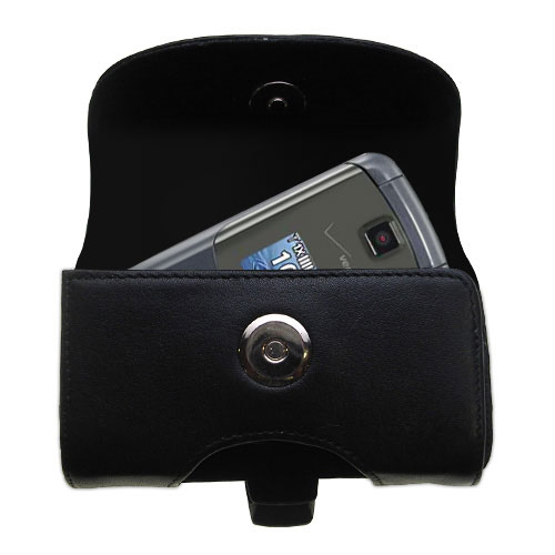 Black Leather Case for LG Accolade