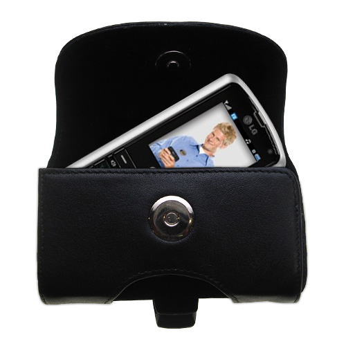 Black Leather Case for LG AX265