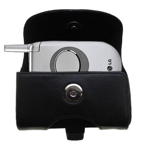 Black Leather Case for LG C1300i 1300