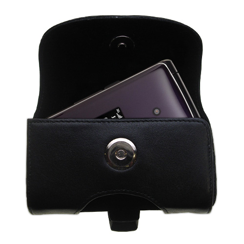 Black Leather Case for LG CU515