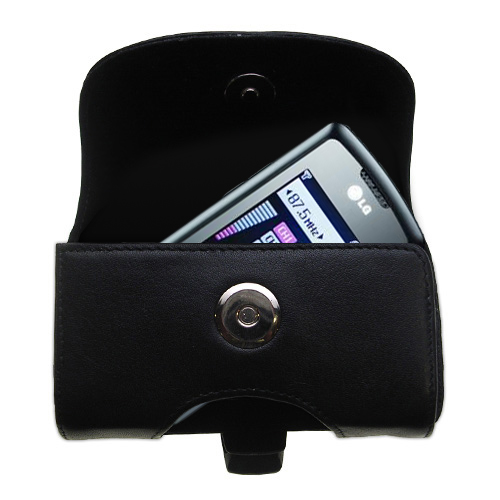 Black Leather Case for LG GB130