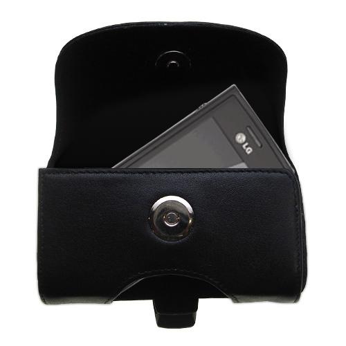 Black Leather Case for LG GD550