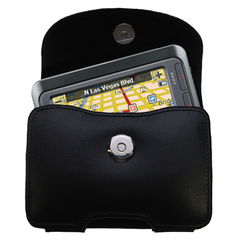 Black Leather Case for LG LN740