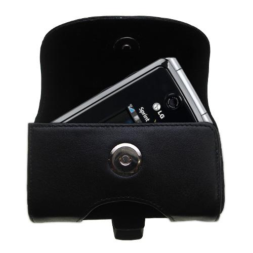 Black Leather Case for LG LX570 / LX-570