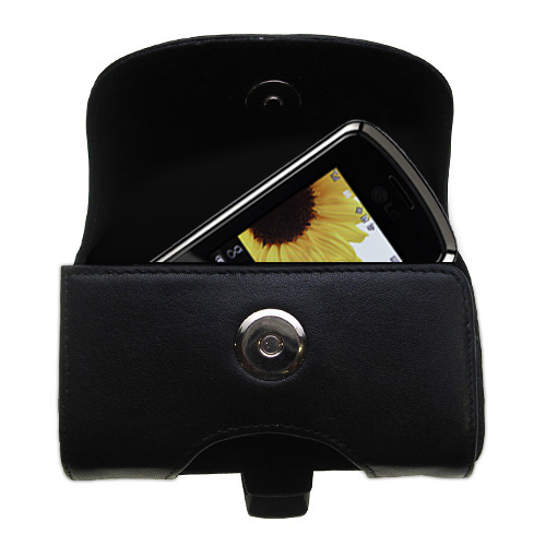 Black Leather Case for LG LX370