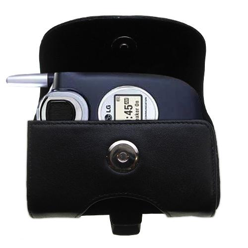 Black Leather Case for LG UX4750