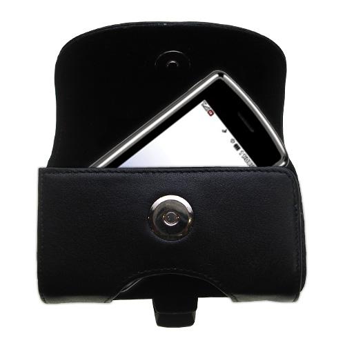 Black Leather Case for LG UX830 UX840