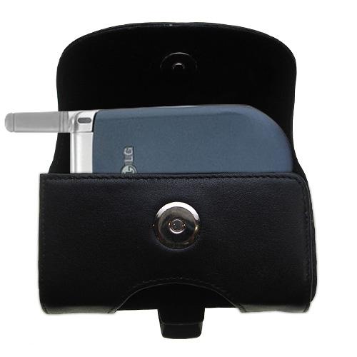 Black Leather Case for LG VX3200
