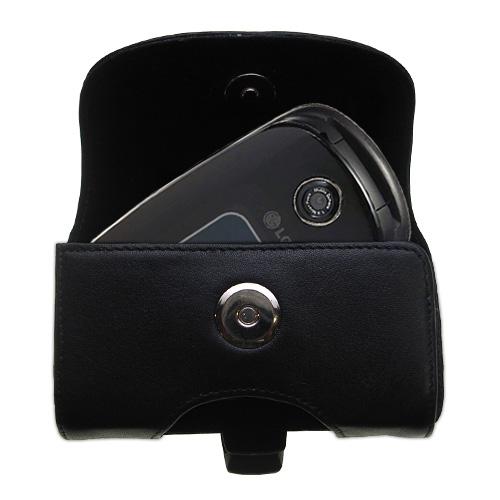 Black Leather Case for LG VX5400