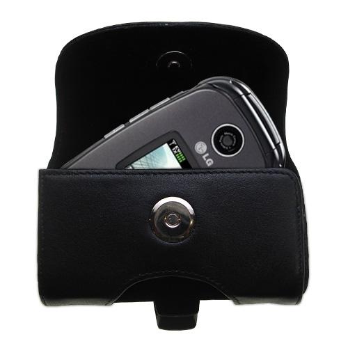 Black Leather Case for LG VX8350