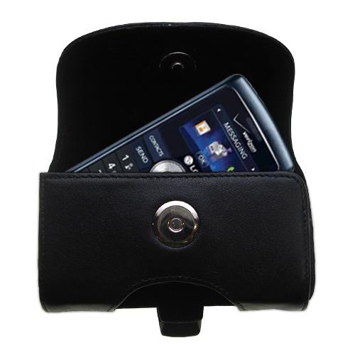 Black Leather Case for LG VX9200