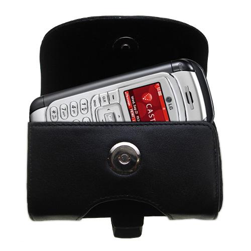 Black Leather Case for LG VX9900