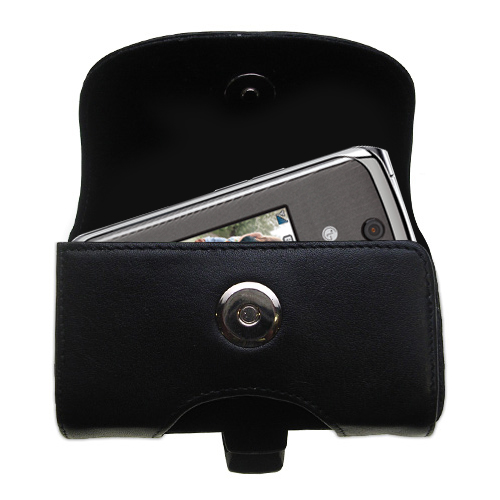 Black Leather Case for LG Wine II