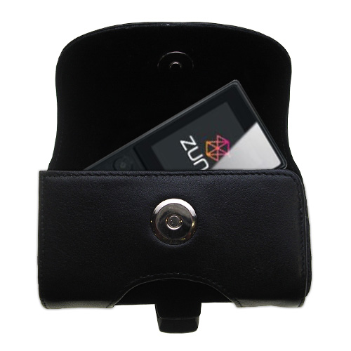 Black Leather Case for Microsoft Zune 4GB / 8GB